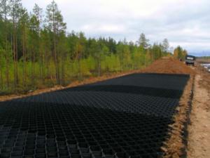 Армирование оснований и конструктивных слоев автомобильных дорог для сайта Геокорд